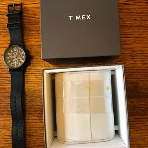 Timex Standard Chronography watch with fabric band